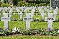墓地军人 库存照片