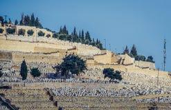 墓地在耶路撒冷 免版税库存照片