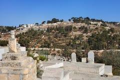 墓地在耶路撒冷 免版税图库摄影