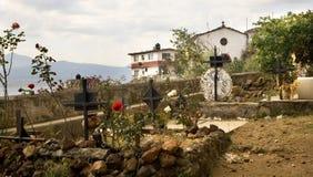 墓地坟园海岛janitizo墨西哥 库存图片