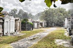 墓地新奥尔良雨夏天 图库摄影