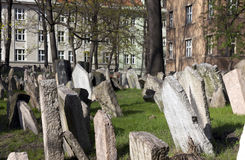 墓地犹太布拉格 免版税库存照片