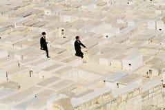 墓地犹太挂接橄榄 免版税库存照片