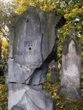 墓地犹太波兰wroclaw 免版税库存照片