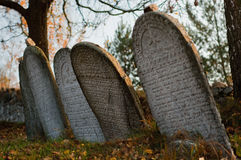 墓地犹太老布拉格 免版税库存照片