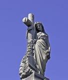 墓地纪念碑 免版税库存照片