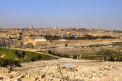 墓地耶路撒冷犹太老 免版税库存照片