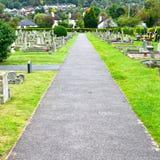 墓地路径 库存照片