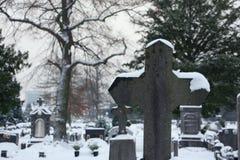 墓地雪 库存照片