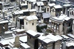 墓地montmartre巴黎 库存图片