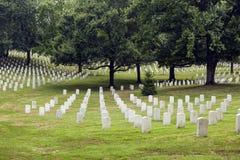 墓石在阿灵顿 库存照片