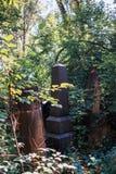 墓碑在犹太公墓 库存图片