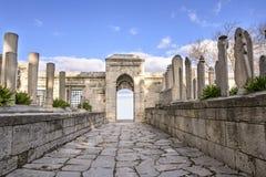 墓碑在Suleymaniye清真寺坟园  库存图片