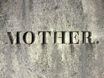 墓碑母亲 库存照片