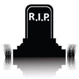 墓碑详细的剪影 免版税库存图片