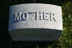 墓碑:母亲 库存照片