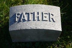 墓碑:父亲 免版税库存图片