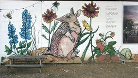 墙壁上的广场, Arts District,达拉斯,得克萨斯主教 免版税库存照片