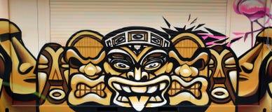墙壁上的玛雅人 库存图片