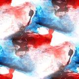 墙壁上的背景无缝的红色,蓝色,黑样式背景 库存照片