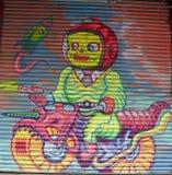 墙壁上的艺术在一点意大利在曼哈顿 库存照片