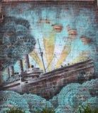 墙壁上的艺术在一点意大利在曼哈顿 免版税库存图片