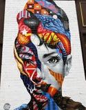 墙壁上的艺术在一点意大利在曼哈顿 免版税库存照片