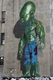 墙壁上的艺术在一点意大利在曼哈顿 库存图片