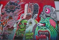 墙壁上的艺术在东部威廉斯堡在布鲁克林 图库摄影