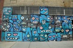 墙壁上的艺术在东部威廉斯堡在布鲁克林 免版税库存照片