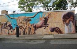 墙壁上的艺术在史泰登岛,纽约 免版税图库摄影