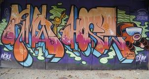 墙壁上的艺术在布鲁克林 库存照片