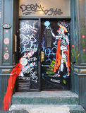 墙壁上的艺术在更低的东边在曼哈顿 免版税库存照片