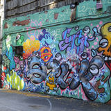 墙壁上的艺术在更低的东边在曼哈顿 免版税库存图片