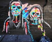墙壁上的艺术在更低的东边在曼哈顿 免版税图库摄影