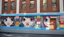 墙壁上的艺术在更低的东边在曼哈顿 图库摄影