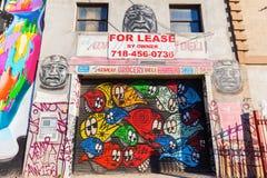 墙壁上的艺术在Bushwick,布鲁克林, NYC 库存图片