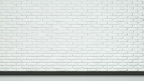 墙壁和地板被绘的白色颜色砖  库存图片