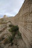 墙壁在嘉峪关市 免版税库存照片
