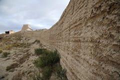 墙壁在嘉峪关市 免版税图库摄影