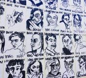 墙壁在市里斯本 免版税库存照片
