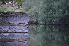 墙壁在自然beauutifull放 库存照片
