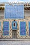 墙壁在Khiva老镇,乌兹别克斯坦 库存图片