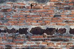 墙壁寺庙在Lopburi泰国 免版税图库摄影