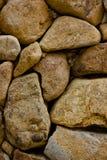 墙壁布朗石头 库存照片