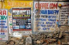 墙壁标志,乌代浦,印度 免版税库存照片