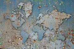 墙壁油漆词地图 免版税图库摄影