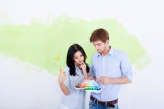 墙壁油漆 免版税库存照片