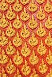 墙壁泰国寺庙 免版税库存图片