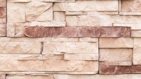 墙壁浅褐色的石头 免版税库存照片